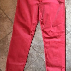 HUDSON Red Stretch Denim Leggings Jeans 31
